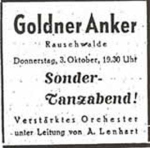 Annonce Goldner Anker 1946