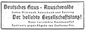 Annonce Deutsches Haus 1946