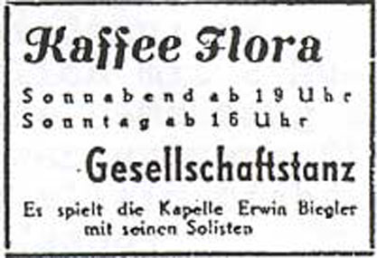 Annonce Kaffee Flora 1948