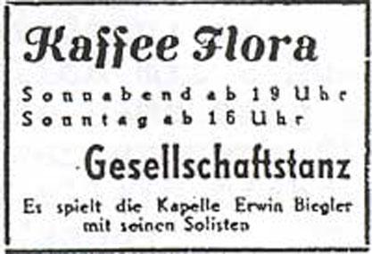 Annonce Kaffee Flora 1948