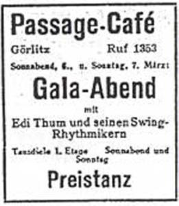 Annonce Passage-Café 1948