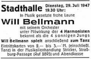 Annonce Stadthalle 1947